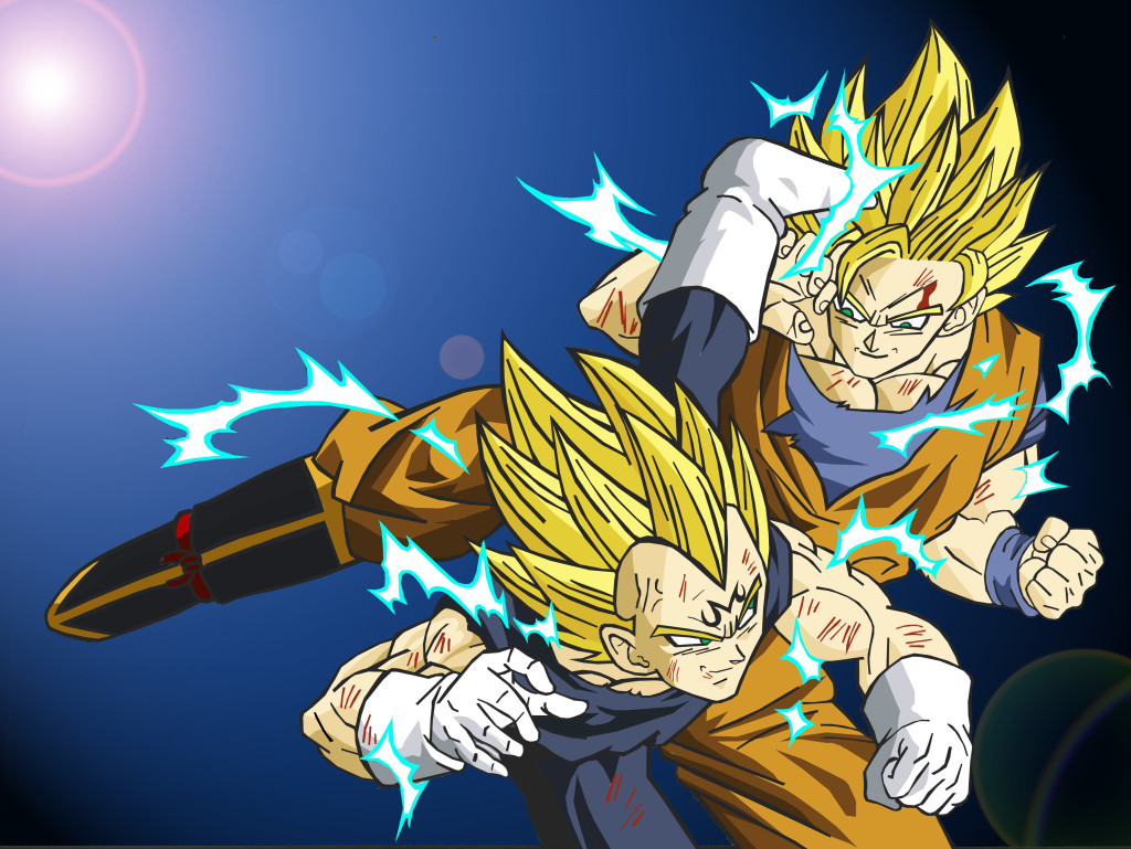 Dibujo De Goku Kakarotto Peleando Contra Vegeta Para: Awesome Son Goku HD Wallpapers